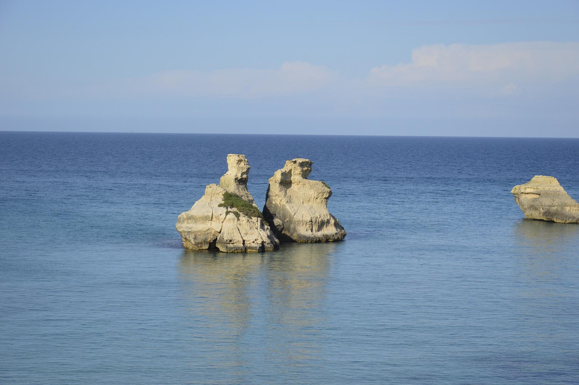 Le due sorelle- dwie siostry, Salento słońce, morze iwiatr czyli rajski zakątek naziemi