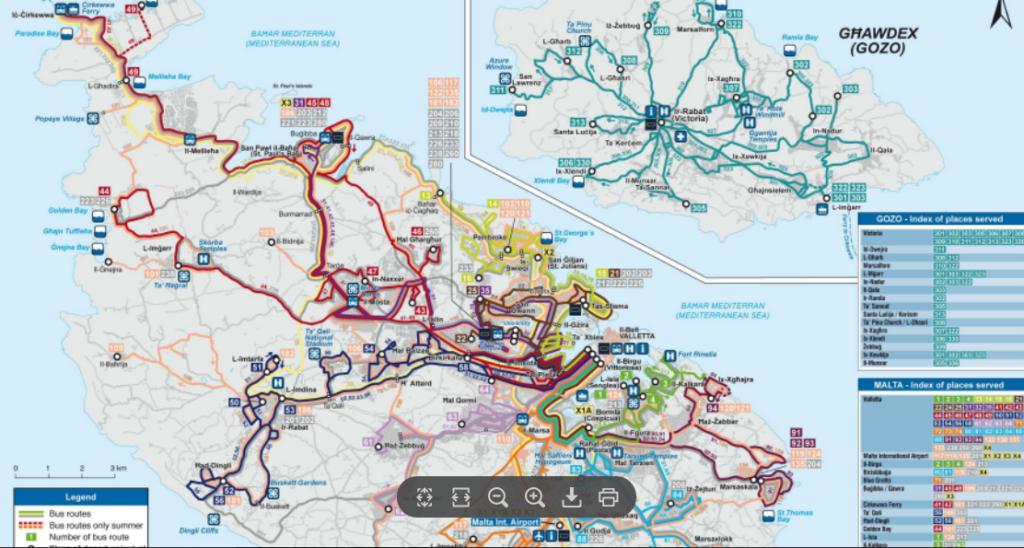 bus map malta, Malta iGozo praktyczny przewodnik